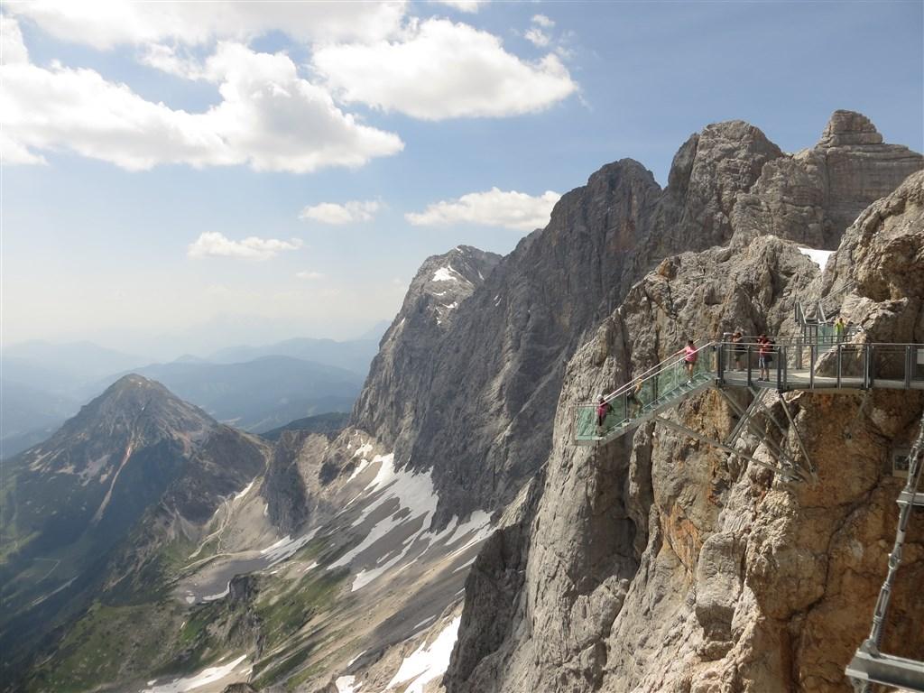 Ledovec Dachstein - pohodová letní turistika - Rakousko
