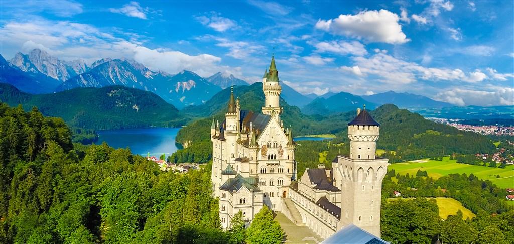 Bodamské jezero a královské zámky Bavorska - Německo