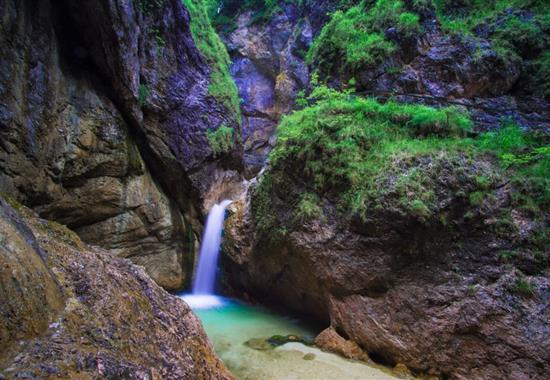 Den v národním parku Berchtesgaden - Německo